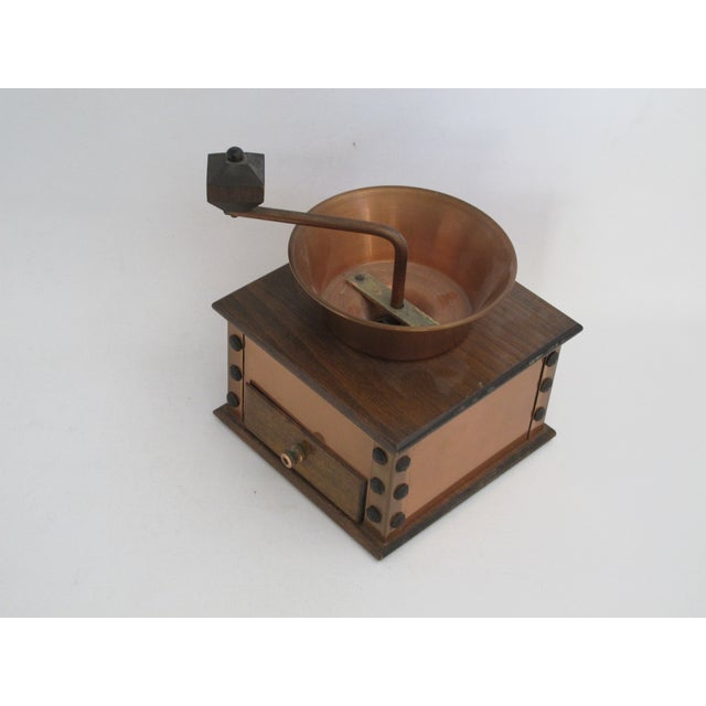 Copper and Walnut Coffee Grinder - Image 7 of 7