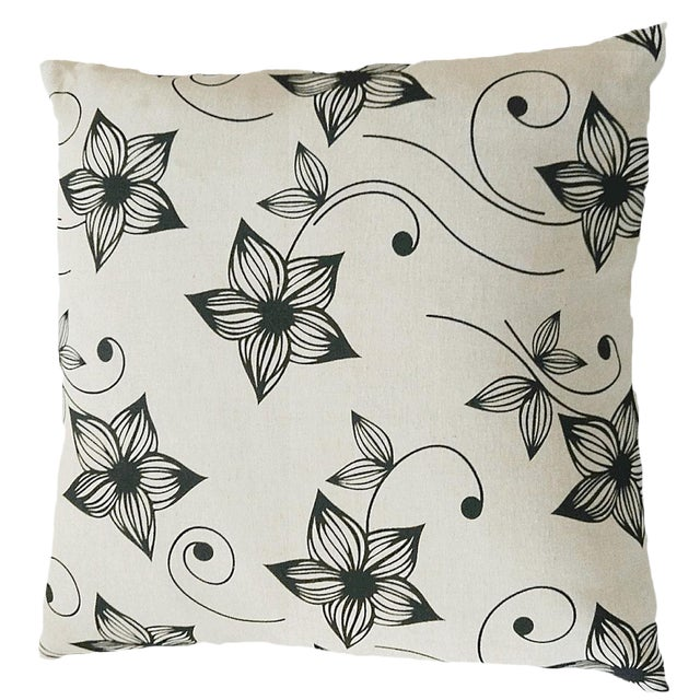 Floral Throw Pillow Cushion Cover - Image 1 of 2