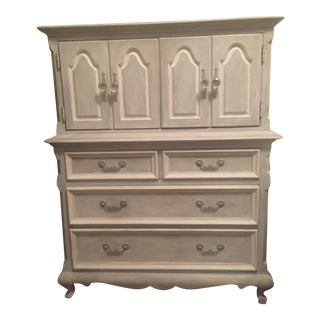 French Provincial White & Gray Dresser
