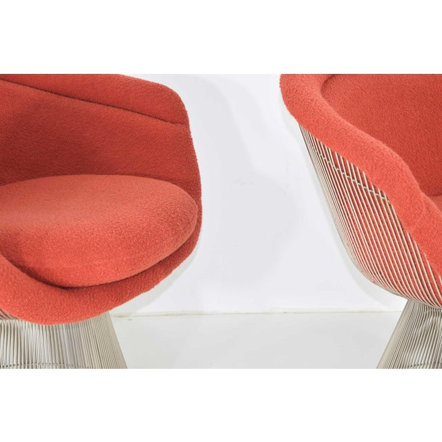 1960s Warren Platner Nickel Plated Lounge Chairs - a Pair For Sale - Image 9 of 10
