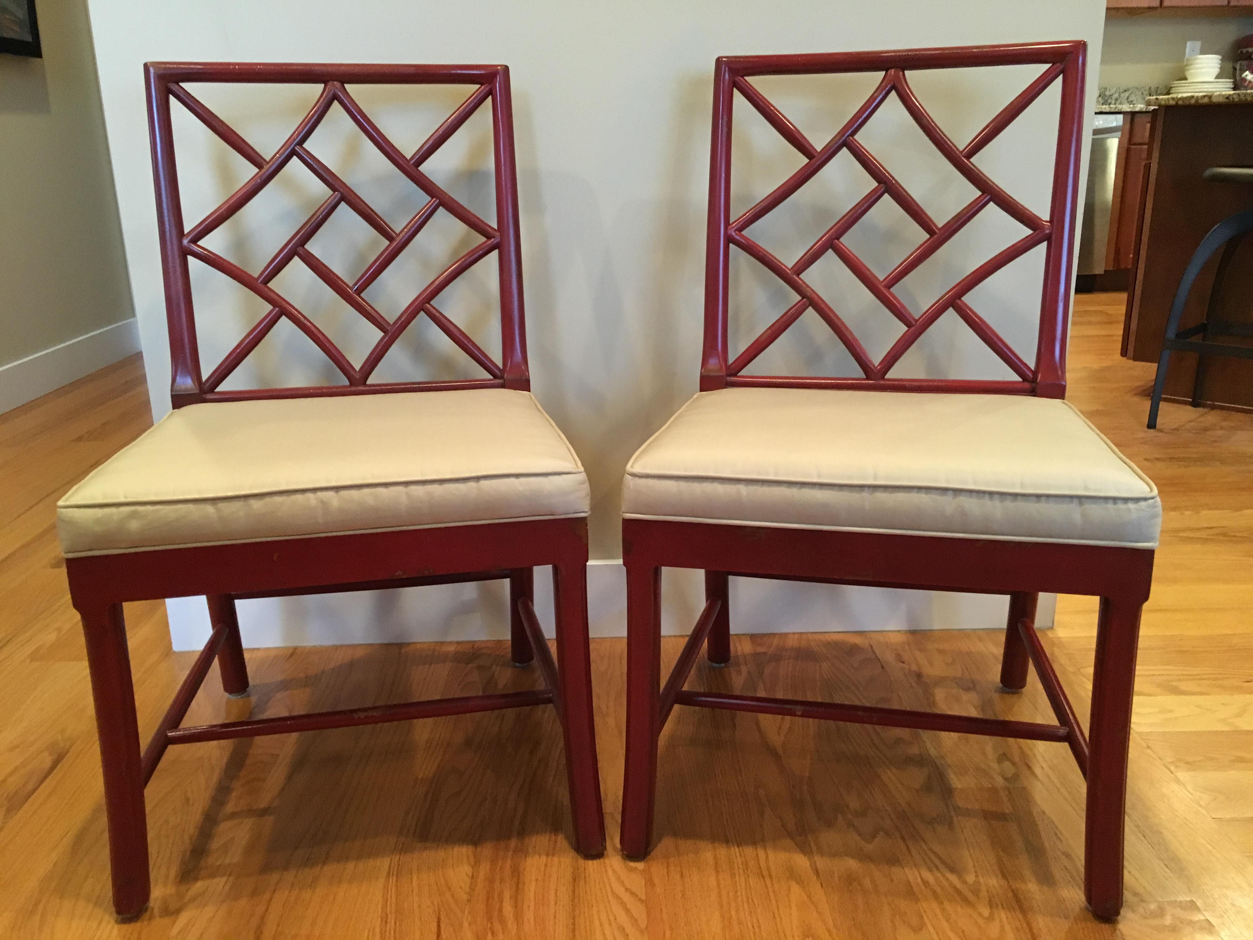 Hickory Chair Fretwork James River Side Chairs   A Pair   Image 3 Of 10