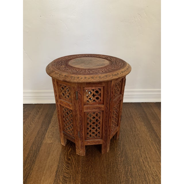 Metal Moroccan Octagonal Side Table For Sale - Image 7 of 7