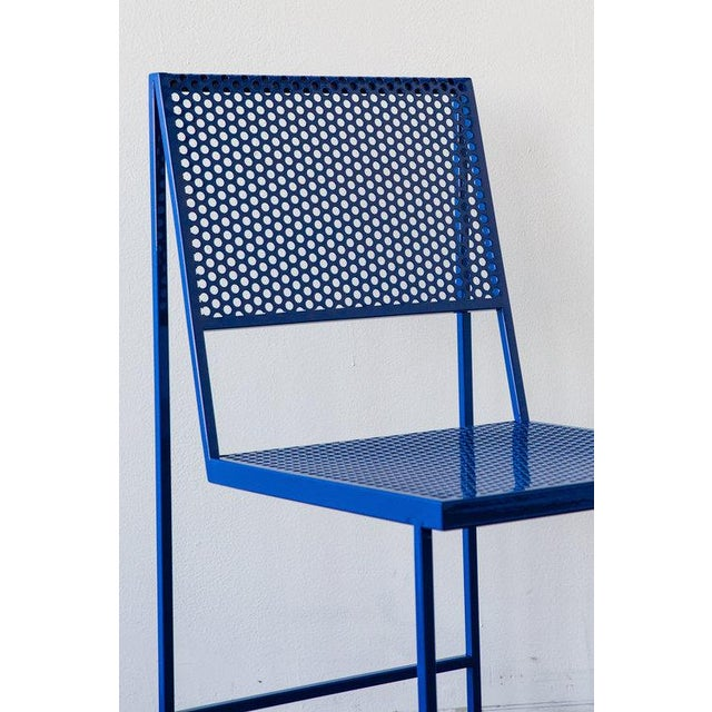 Foreman Brothers Design Flux Dining Chair in True Blue For Sale - Image 4 of 6