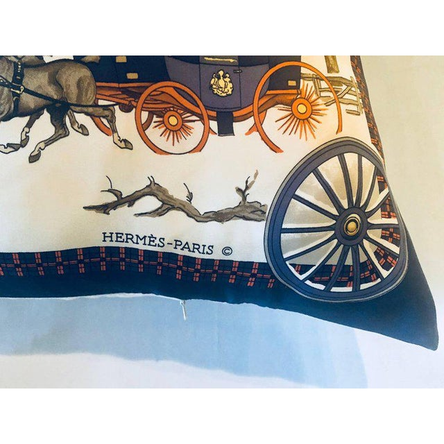 Hermès Hollywood Regency Style Hermes 'The Bull and Mouth Regents Circus' Silk Pillow For Sale - Image 4 of 12