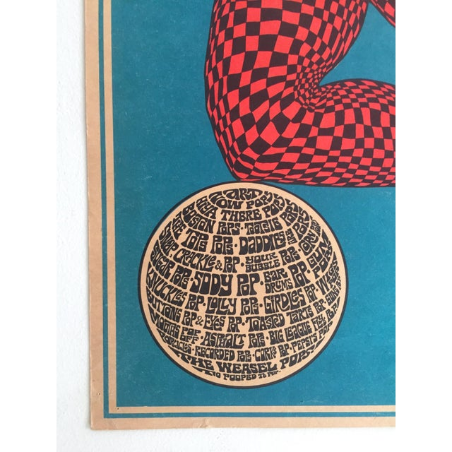 """John Hitesman Rare Vintage 1960's Mid Century Modern """" the Pops Generation """" Lithograph Print Collector's Op Art Poster For Sale - Image 9 of 13"""