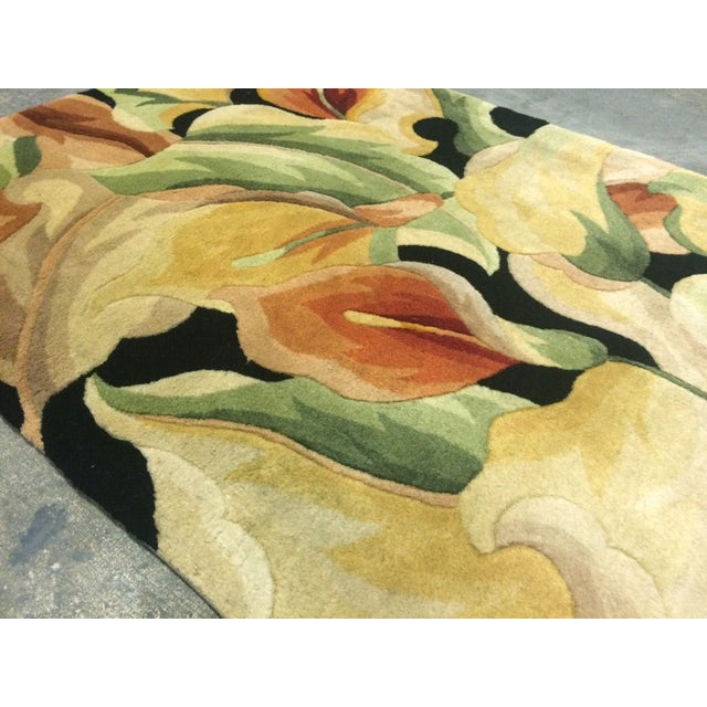 "Colorful Floral Rug - 3'3"" X 4'6"" - Image 5 of 5"