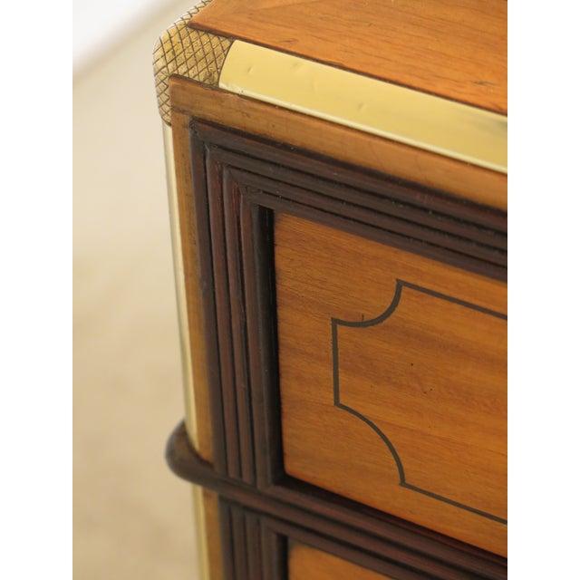 1970s Vintage Baker Satinwood Large Leather Top Executive Partner Desk For Sale - Image 11 of 14