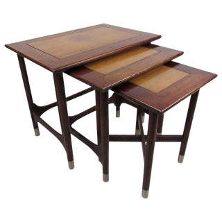 Mid-Century Modern Nesting Tables by Weiman For Sale