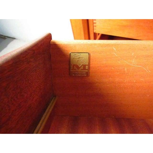 Bernhard Pedersen & Son 1970s Danish Modern Solid Teak Tamboured Door Storage Cabinet For Sale - Image 4 of 6