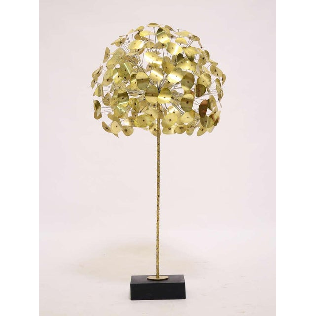 Brass Oversize Dandelion Sculpture In Brass By Jere For Sale - Image 7 of 9