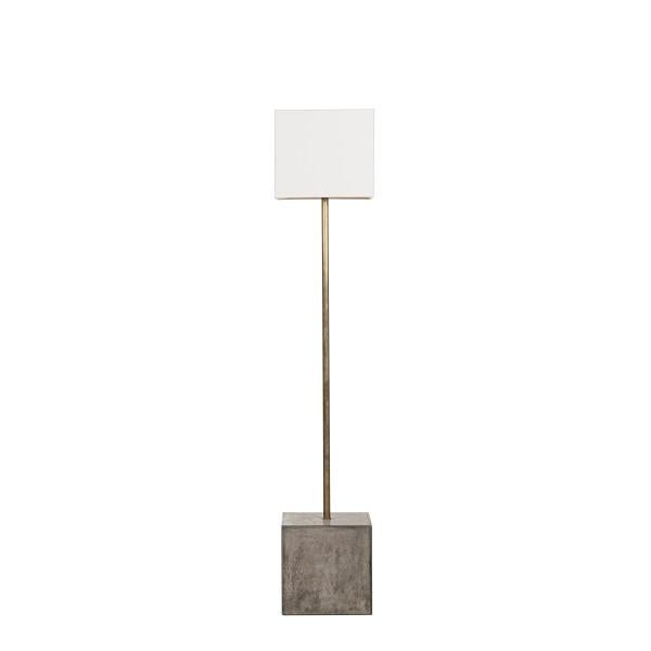 2010s Nellcote Square Floor Lamp With White Shade For Sale - Image 5 of 5