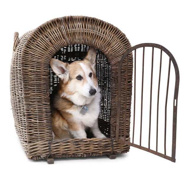 English Wicker Dog Kennel For Sale - Image 12 of 13