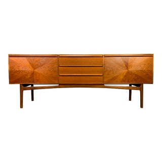 "Vintage Mid Century Modern Teak ""Sunburst"" Credenza by A. H. McIntosh Ltd. For Sale"