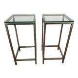 "Image of Minimalist Crate & Barrel ""Era"" Side Tables - a Pair For Sale"