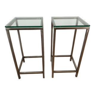 "Minimalist Crate & Barrel ""Era"" Side Tables - a Pair For Sale"