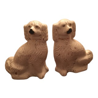 1870 Staffordshire Dog Bookends - Set of 2 For Sale