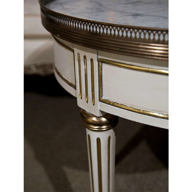 French French Louis XIV Style Painted Gueridon Low Table For Sale - Image 3 of 8