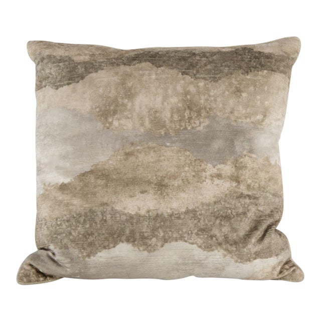Natural Gradient Feather Down Throw Pillow For Sale