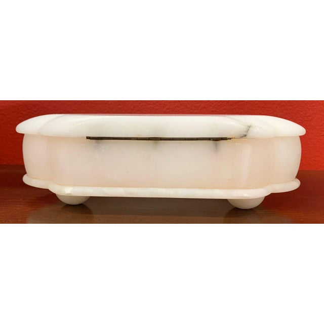 Stone Mid 20th Century Alabaster Hinged Box For Sale - Image 7 of 9