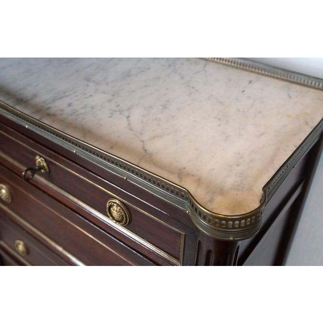 1900 - 1909 1900s Louis XVI Mahogany Semainier For Sale - Image 5 of 7