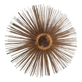 Mid-Century Brutalist Starburst Wall Sculpture For Sale