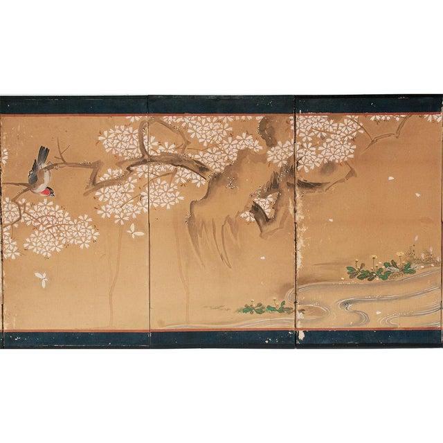 17th-18th C. Japanese Twelve-Panel Byobu Screen For Sale - Image 4 of 13
