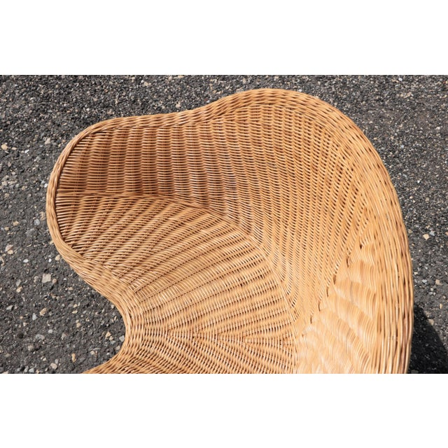 Tan Wicker Low Lounge Chairs - a Pair For Sale - Image 8 of 13