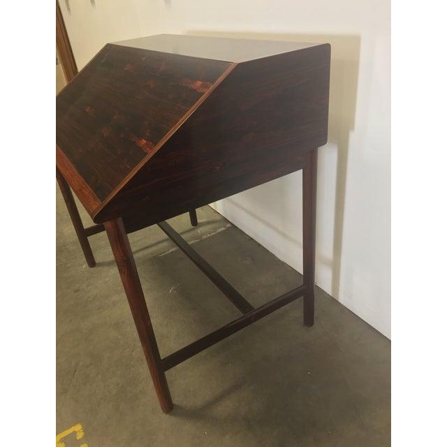 Mellemstrands Trevarindustri Mid-Century Torbjørn Afdal Rosewood Secretary Desk For Sale - Image 4 of 9