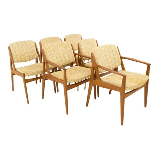 Mid-Century Modern Arne Vodder Elle and EllaTeak Dining Chairs - Set of 6 For Sale