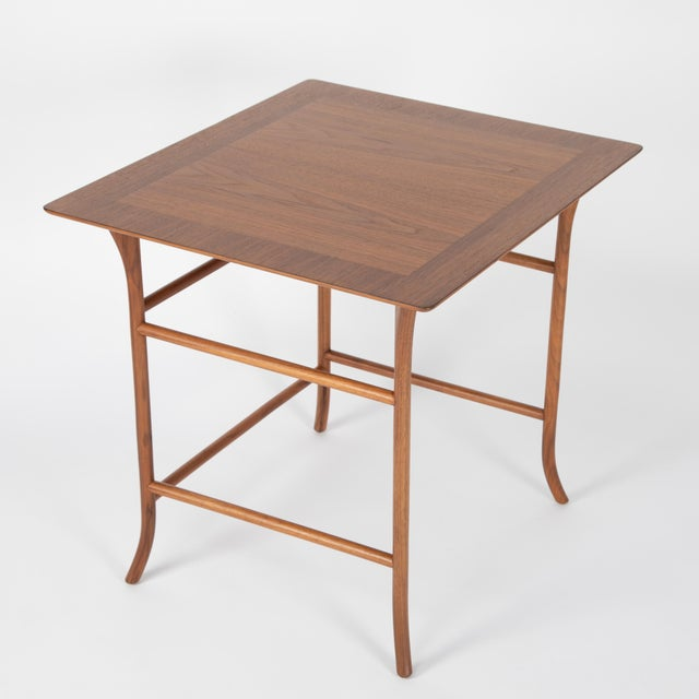 1990s Walnut Nesting Tables Inspired by T.H. Robsjohn-Gibbings, Circa 1990s - a Pair For Sale - Image 5 of 13