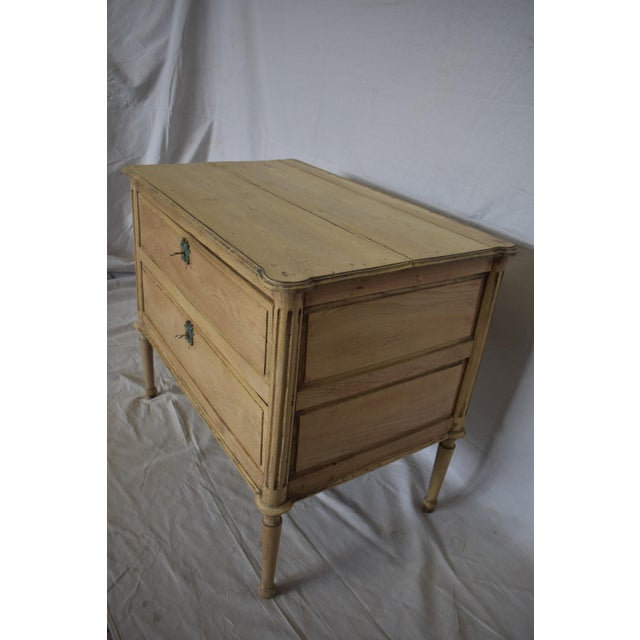 Early 19th Century French Bleached Directoire Commode, Chest, Side Table For Sale - Image 4 of 6