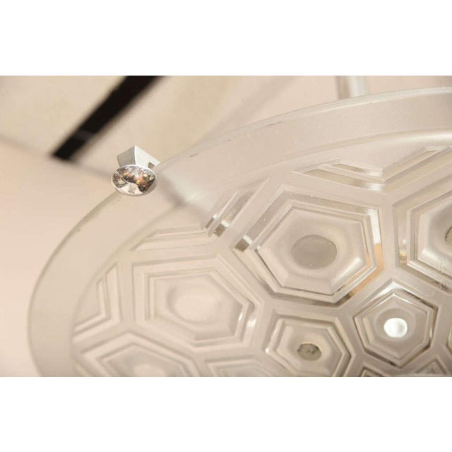 Art Deco Ceiling Fixture Signed Kovacs For Sale In New York - Image 6 of 10