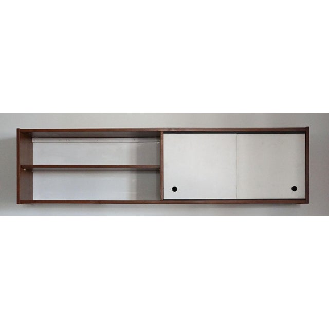 Wood Mid-Century Wall Cabinet For Sale - Image 7 of 7