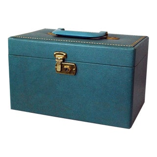 Vintage Green Train Case