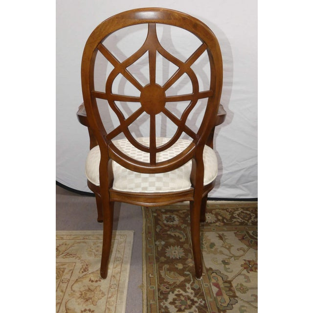 Century Furniture Century Furniture Spider Web Back Style Dining Armchairs- Set of 4 For Sale - Image 4 of 13