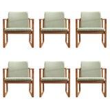 Image of 1950s Vintage Børge Mogensen Dining Chairs- Set of 6 For Sale