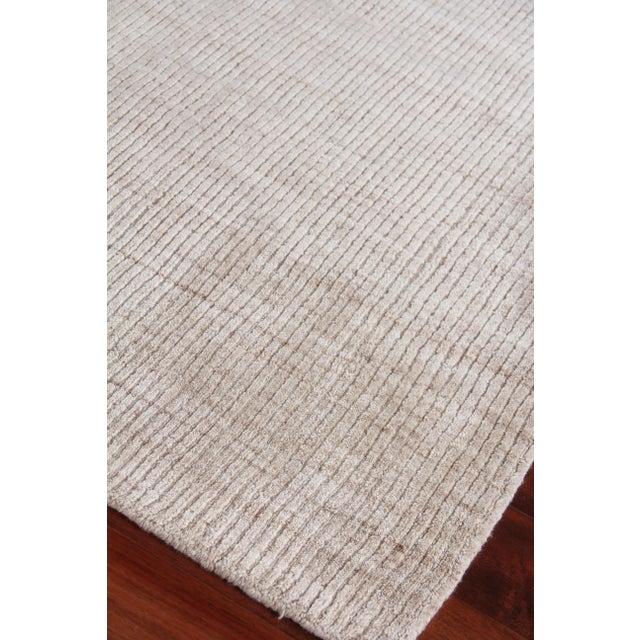 "Textile Hamm Hand loom Wool/Viscose Light Beige Rug-6'x9"" For Sale - Image 7 of 8"