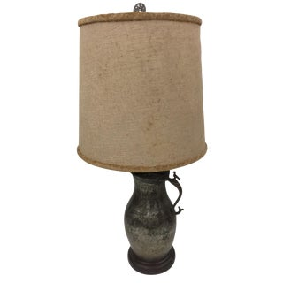 1960s Brutalist Asian Table Lamp For Sale