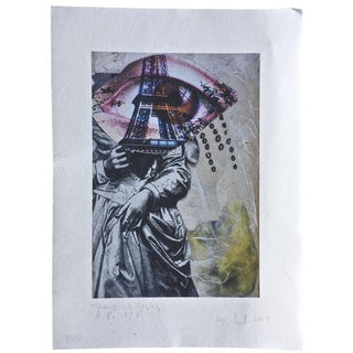 """Amy Ernst """"Paris Is Crying"""" Signed Artists Proof 2014 Original Print For Sale"""