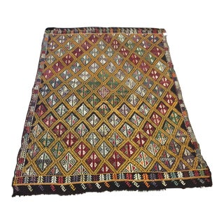 "1960's Turkish Kilim - 5'6""x8'1"" For Sale"