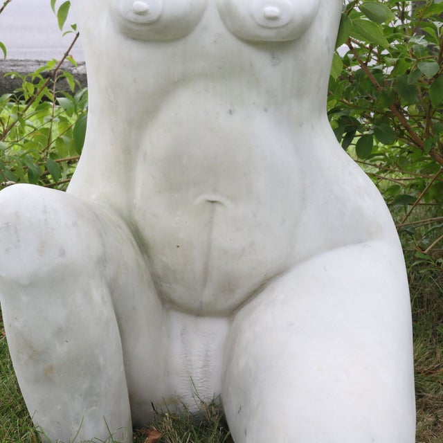 White Marble Nude Sculpture - Image 10 of 11