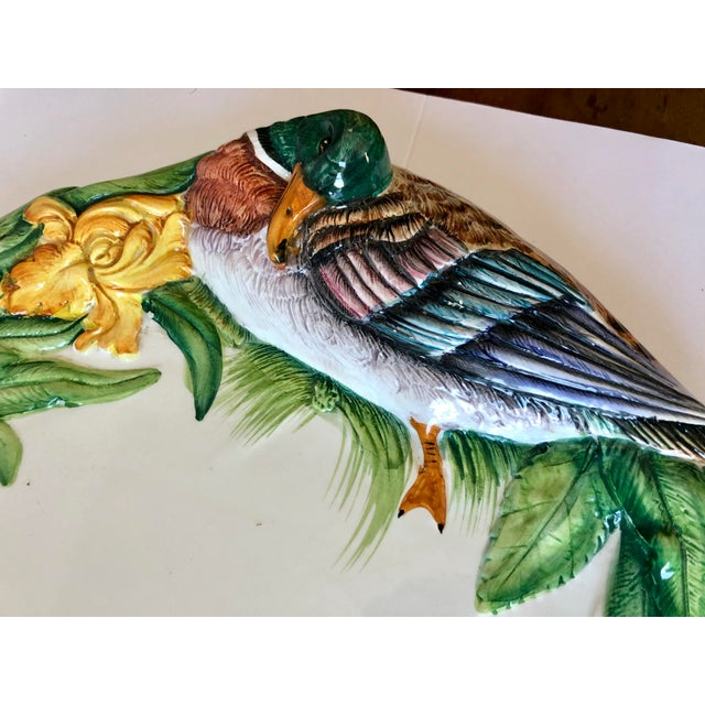 French Vintage Italian Pottery Duck Platter For Sale - Image 3 of 8
