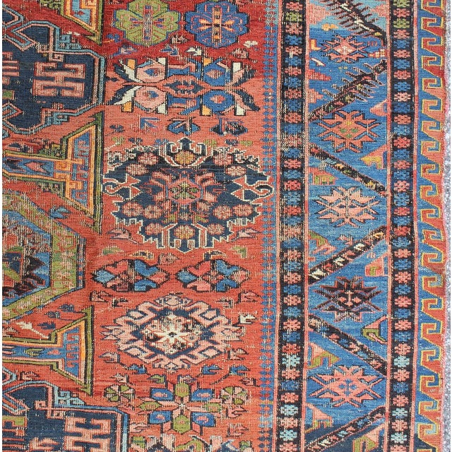 Tribal Keivan Woven Arts, S12-0409, Late 19th Century Antique Caucasian Sumac Rug - 7′3″ × 10′8″ For Sale - Image 3 of 7