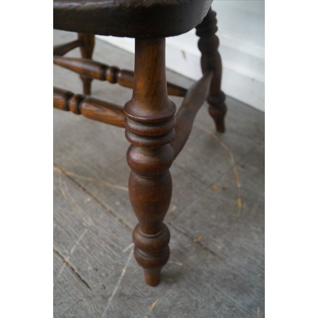 Antique 19th C. English Yew Wood Windsor Arm Chairs - Pair - Image 9 of 10