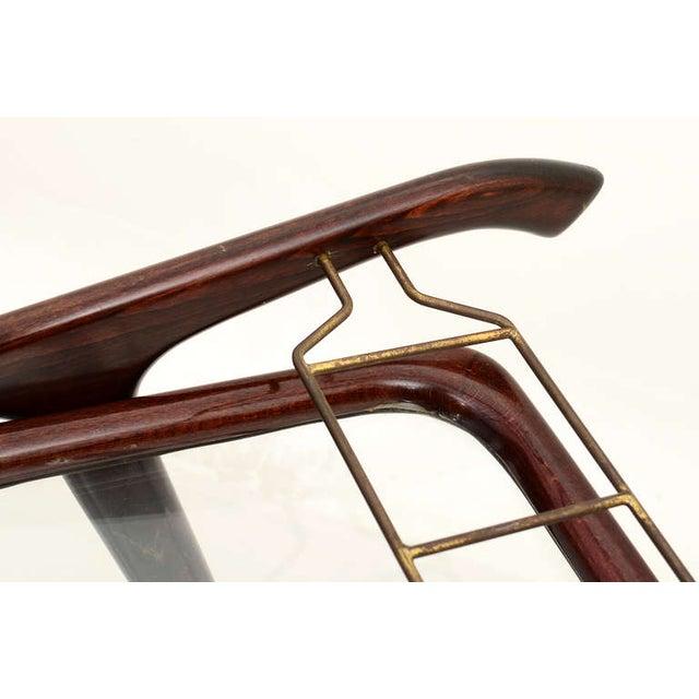 Cesare Lacca Mid-Century Modern Italian Cesare Lacca Service Cart For Sale - Image 4 of 9