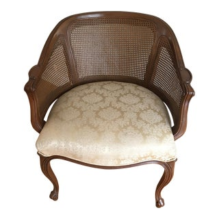 French Provincial Cane Barrel Style Chair