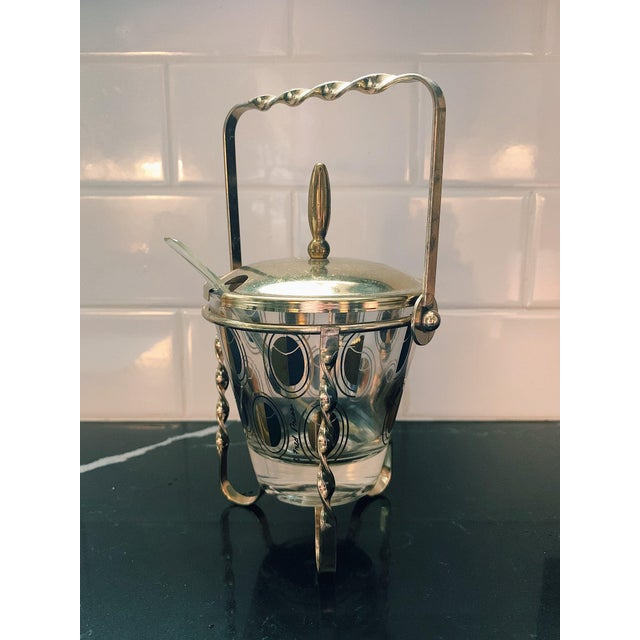 Vintage Fred Press Gold Condiment Caddy with Spoon For Sale In Nashville - Image 6 of 6