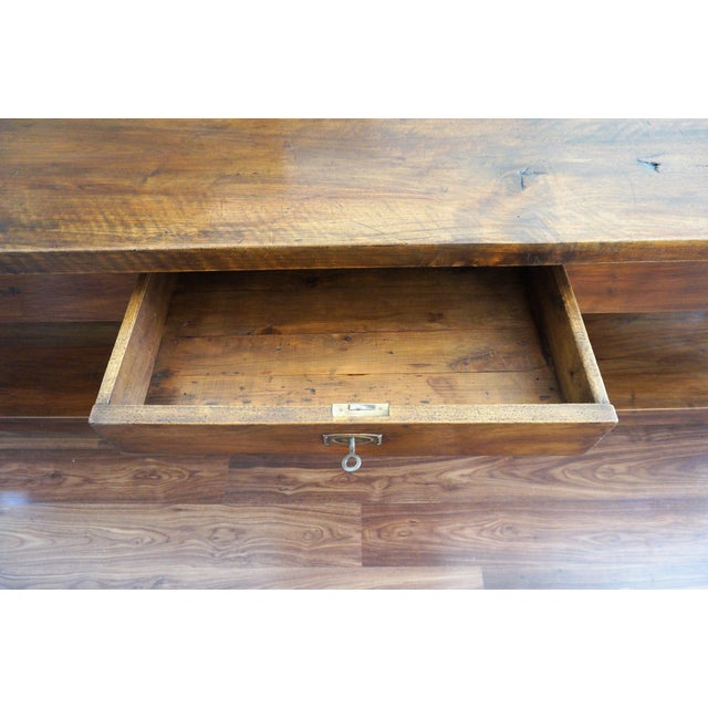 Wood Large 19th Century Spanish Refectory Walnut Farm Table or Console For Sale - Image 7 of 11