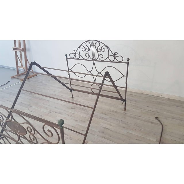 19th Century Empire Iron Single Bed For Sale - Image 12 of 13