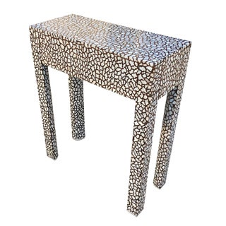 Contemporary Cheetah Style Mother of Pearl Inlay Table For Sale